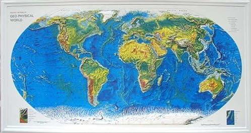 Rand mcnally geo physical world raised relief map unframed hubbard rand mcnally geo physical world raised relief map unframed hubbard scientific amazon books gumiabroncs Choice Image
