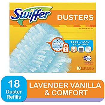 Swiffer 180 Dusters, Multi Surface Refills with Febreze Lavender Vanilla & Comfort Scent, 18 Count