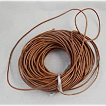 WellieSTR Crafts Round Color Coated Cowhide Leather Cord, 3mm, 10 Yards (Brown)/Round Leather Lace, 3-Millimeter, 10 yard Brown/Leather Round Lace Beading Jewelry and Craft Cord