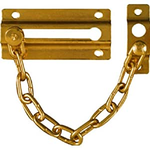 National Hardware V807 Door Chains in Brass