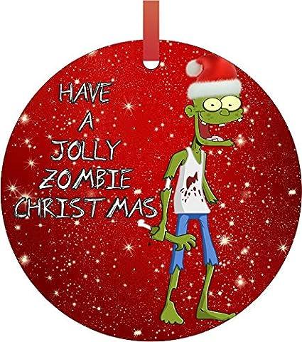 Christmas Zombie Santa.Amazon Com Rosie Parker Inc Ornament Zombie Have A Jolly
