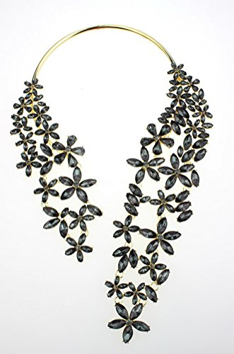 Superhai Flowers Multilayer Diamond Tassel Exaggeration Short Necklace Female Long Necklace from Superhai