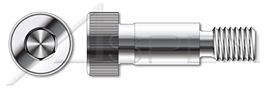 ISO 7379 Metric M6-1.0 X 80mm Class 12.9 Steel Hex Socket Drive Shoulder Screws 14 pcs Shoulder=8mm Plain
