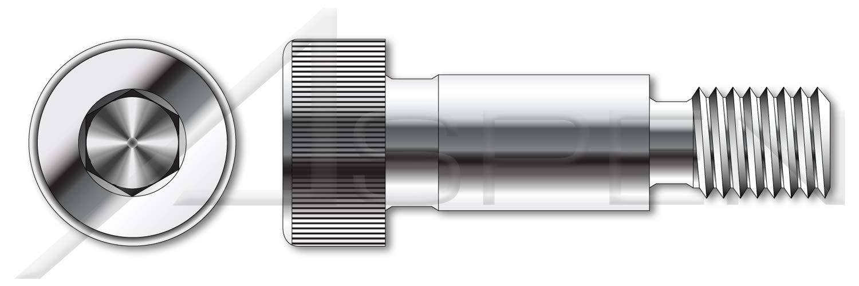 (5 pcs) 3/8''-16 X 1-1/2'', Shoulder Screws, Hex Socket Drive, AISI 316 Stainless Steel