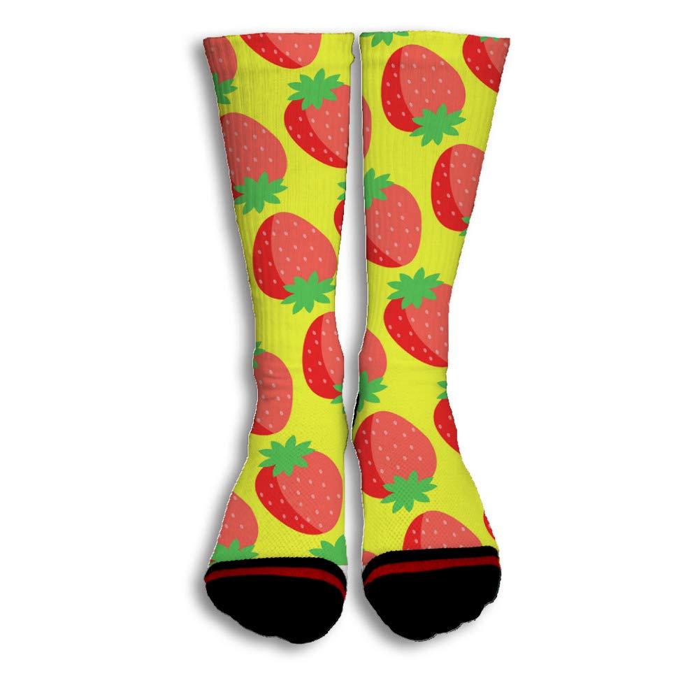 Strawberry Seeds Cool Novelty Design Creative Sport 3D Printed Crew Socks