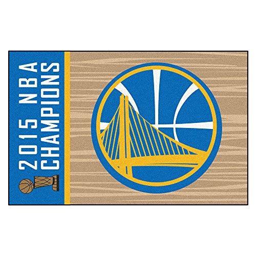 Fan Mats FAN-18263 Golden State Warriors 2015 NBA Champion Starter Floor Mat, 20 x 30 (State University Basketball Area Rug)