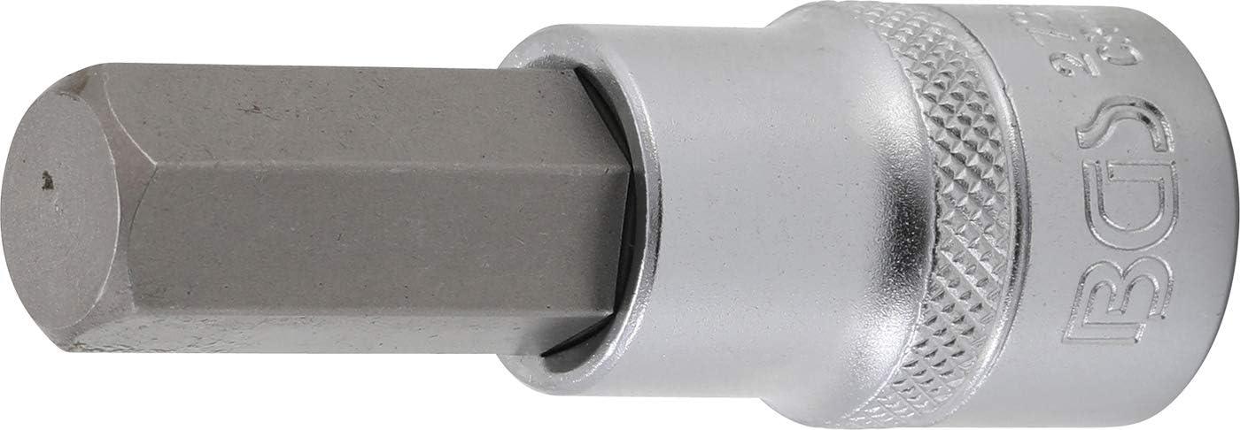 "BGS Bit-Einsatz Innenvierkant 12,5 mm Innensechskant 19 mm 1//2/""/"""