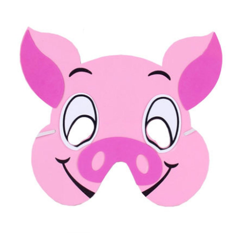 PANDA SUPERSTORE 10 PCS Children's Performance Props Children Animal Masks,Pig by PANDA SUPERSTORE (Image #1)