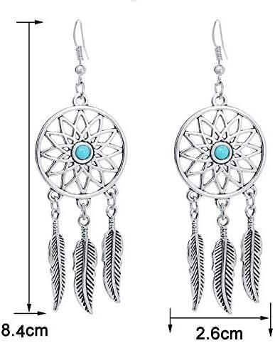 bigboba Fashion pendientes con forma de plumas de Atrapasue/ños pendientes studs joyer/ía colgante para las mujeres ni/ñas A