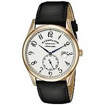 Stuhrling Original Men's Cuvette Classic Automatic Date Rosetone Watch Silver 171B.334532