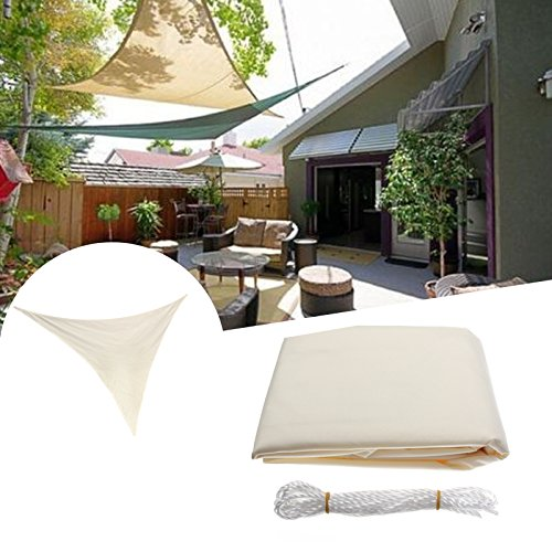 ShopSquare64 3.5M/11ft Triangle Sun Shade Sail UV Water Resistant Canopy Patio Garden Tent Awning