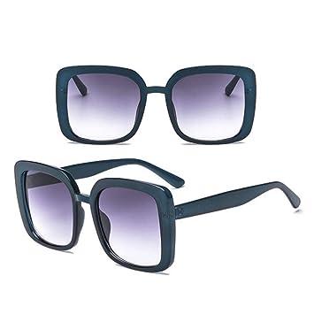 TYJYTM Gafas de Sol cuadradas con Montura Grande Mujer ...