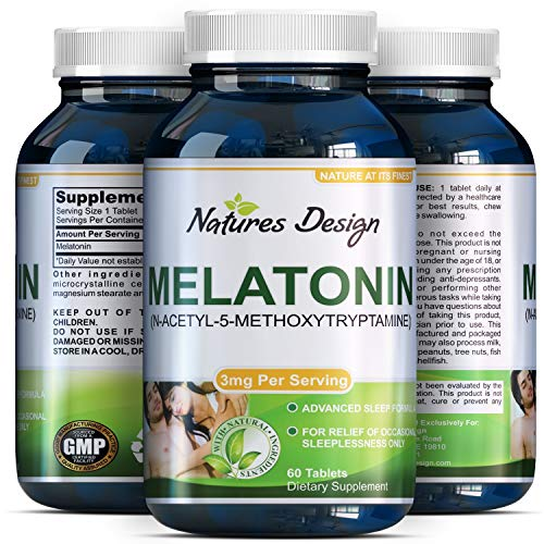 Amazon.com: Best All Natural Sleep Aid – Pure Melatonin Supplement – Gentle 3mg Dosage – Fall Asleep Fast + Easier – Deep Calm + Restful Circadian Rhythms ...