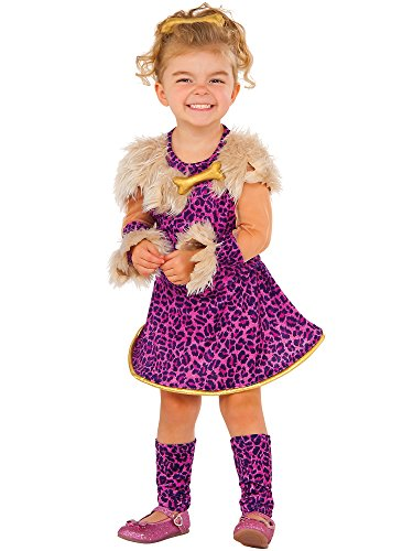 Flintstones Costumes For Kids (Rubie's Costume Pretty in Pink Cavegirl Value Child Costume, Small)