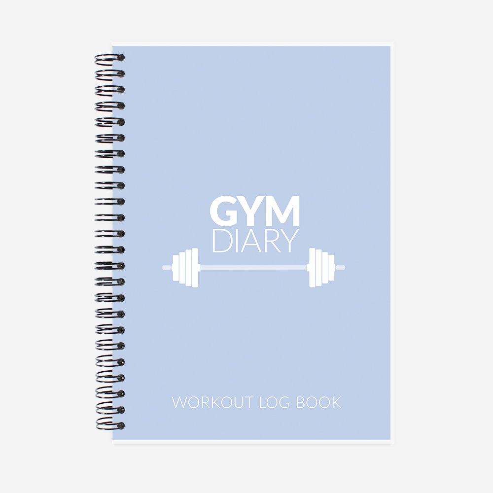 york stationery gym diary a5 workout log book exercise cardio