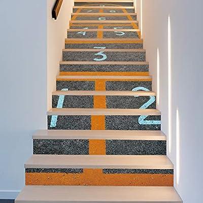 Pegatinas Para Escaleras Jamp House Escalera Pegatinas De Pared Mural Calcomanía De La Escalera Juegos Familiares Etiqueta De Piso Del Pasillo Creativo Pasaje Cubiertas: Amazon.es: Bricolaje y herramientas