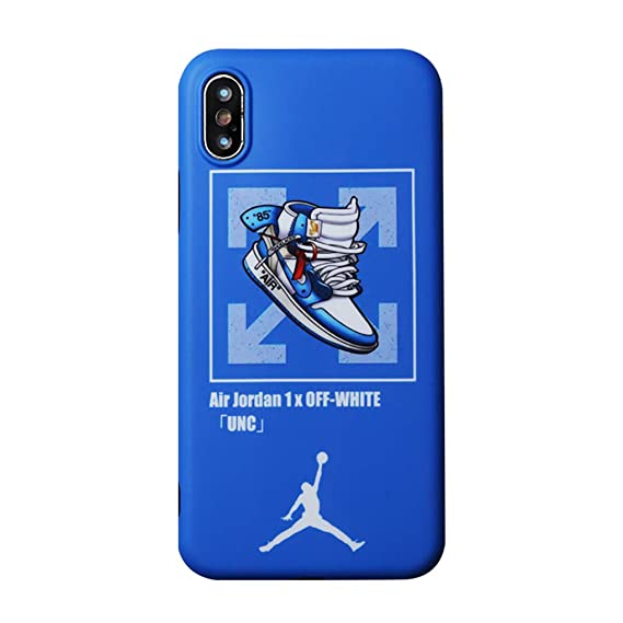 6aaa7eba5b8032 Image Unavailable. Image not available for. Color  iPhone Protective Case  Self-Designed Street Fashion Off White X UNC Air Jordan 1 (