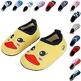 Lauwodun Baby Boys Girls Water Shoes Barefoot Aqua Sock Shoes for Beach Pool Surfing Yoga Swimming Walking-Yellow Duck2425