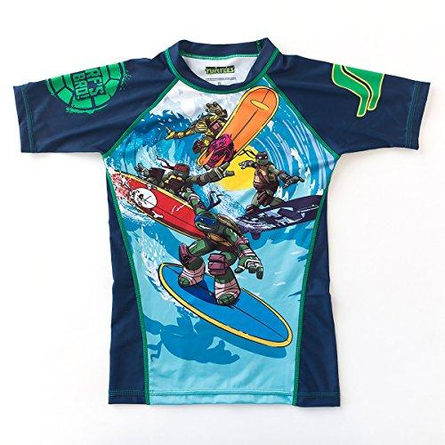 Fusion Surf Gear TMNT Sewer Surfin' Kids Rashguard - Short Sleeve (S)