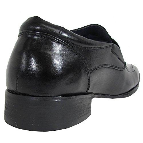 Steve Madden Mens P-sutton Vierkante Teen Loafer Schoenen Zwart Leer