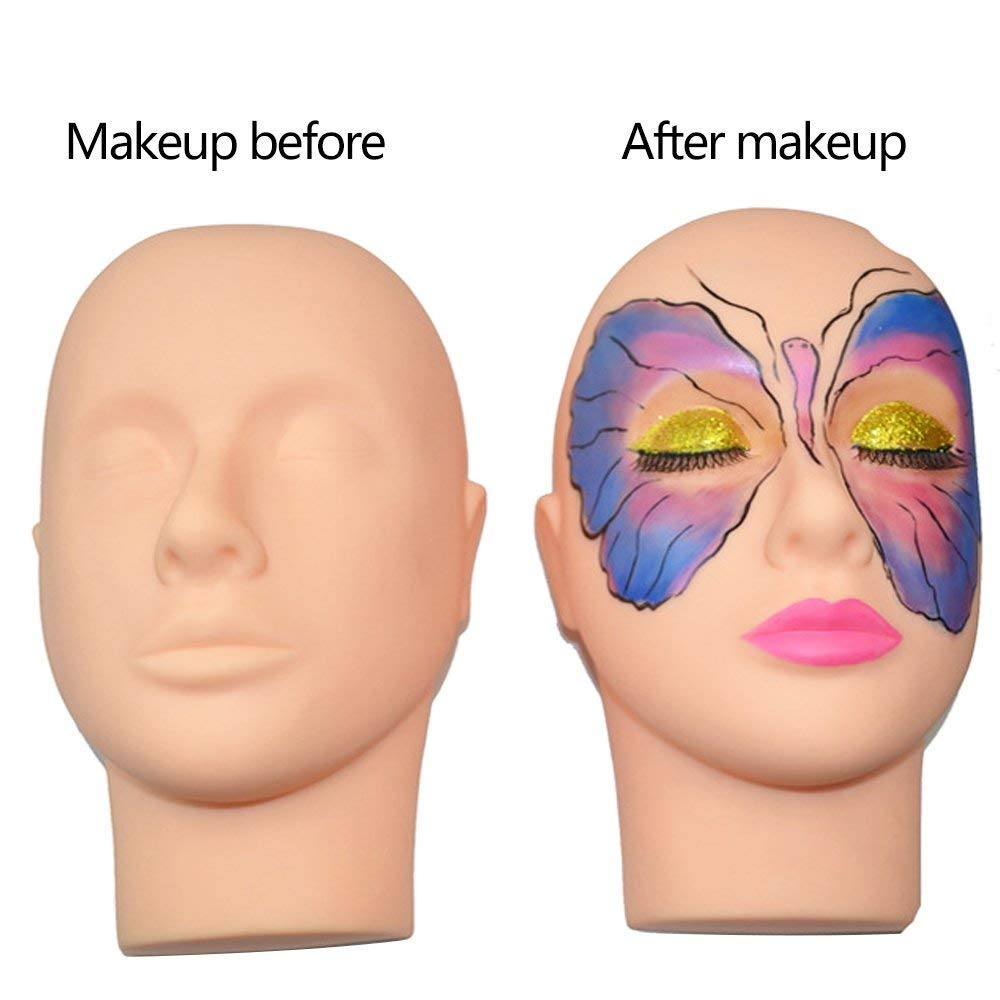 Amazon.com : Practice Training Head, Beauty Star Makeup Cosmetology Mannequin Head Doll Eyelashes Extension Face Makeup Massage Practice with Training ...