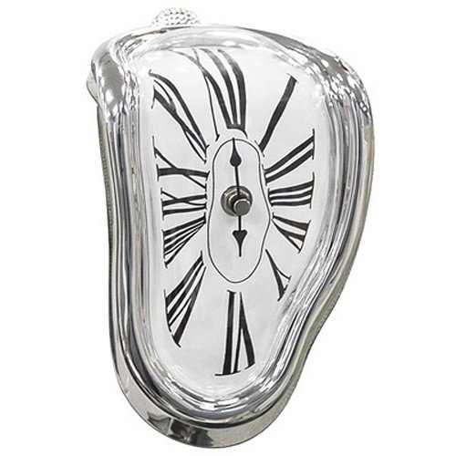 Pinjeer Romanzo surreale distorto orologio da parete distorto Surrealist Salvador Dali orologio da parete stile regalo incredibile decorazione della casa