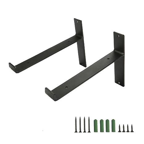 Amazon.com: Tomlff - Soportes de estante de hierro ...