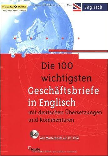 Die 100 Wichtigsten Geschäftsbriefe In Englisch Mit Deutschen