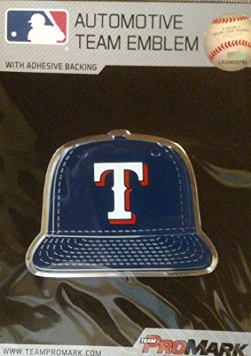 ProMark Texas Rangers Special Ed Ball Cap Raised Color Chrome Auto Emblem Home Decal ()