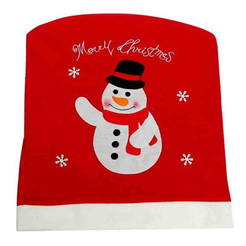 Mackur Weihnachten Stuhlhussen Weihnachtsmann Stuhl R/ücksitzbez/üge Rentier Design Stuhlabdeckung f/ür K/üche Party Decor 1 St/ück