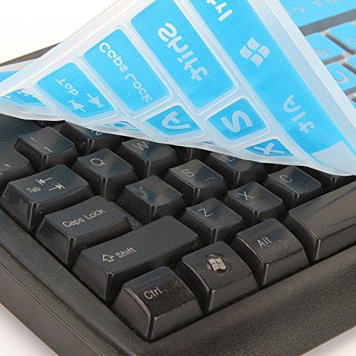 Folox Desktop Computer Keyboard Skin Protector Cover for Ful