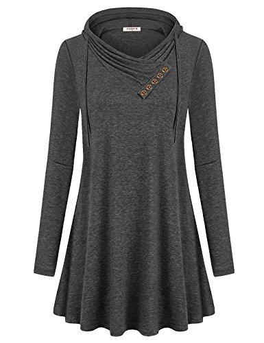long cowl neck hoodie - 6