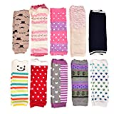 6 Pairs Toddler Girls Boys Leg Warmers, Baby Leggings Knee Pads Size 0-12 Months & 12-36 Months (Baby Girls, 12-36 Months)