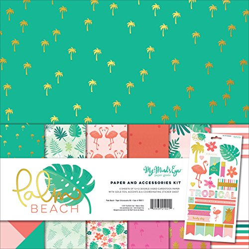 My Mind's Eye Palm Beach Paper & Acc Kit (Scrapbook Tropical Paper)