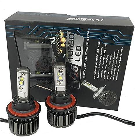 H7 LED Faros Delanteros Bombillas Coches Lámpara Luz H7 Faros Coche Bombillas Canbus 2pcs LED Faro Bombillas H7: Amazon.es: Coche y moto