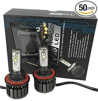2Pcs Auto Car led headlamp H7 H8 H9 H11 9005 9006 CREEs 30w 40W V16 Turbo