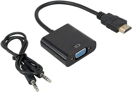 Hdmi a Vga + Audio Converter Hdmi a Vga Converter HD Hdmi a Vga Converter Accesorios externos para computadora: Amazon.es: Electrónica