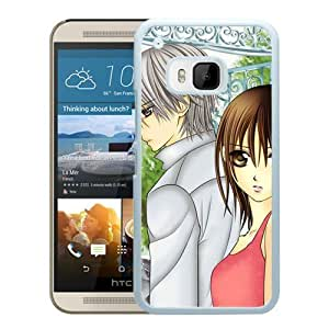 Popular And Unique Designed Cover Case For HTC ONE M9 With Boy Girl Walking Sadness Fence white Phone Case BY icecream design