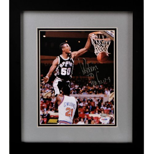 David Robinson Autographed 8x10 Photo - Framed - PSA/DNA Certified - Autographed NBA Photos by Sports Memorabilia