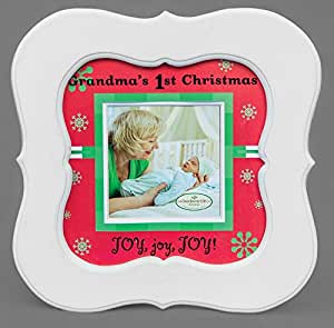 The Grandparent Gift Co. Holiday Grandma's First Christmas Frame (Discontinued by Manufacturer)