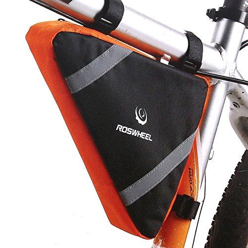 - ezyoutdoor Cycling Triangle Bag Bicycle Bike Bag Top Tube Triangle Bag Front Saddle Frame Pouch Bicycle Triangle Frame Bag