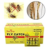 Adealink 4/8/12/16Pcs Fly Sticky Paper Strip Strong Glue Flying Insect Bug Mosquitos Catcher