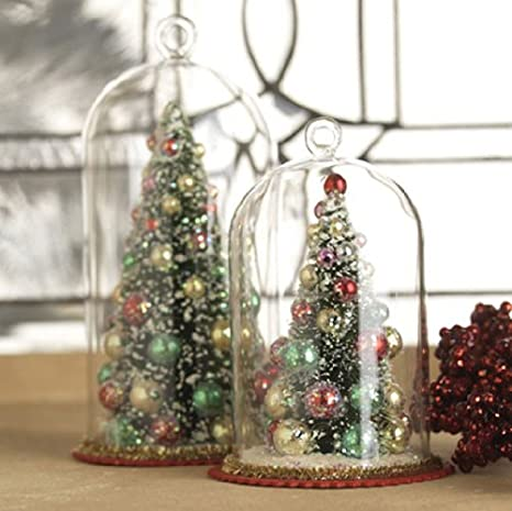 Image Unavailable - Amazon.com: RAZ Imports - Tree In Glass Dome Ornaments: Home & Kitchen