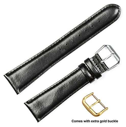 deBeer brand Smooth Leather Watch Band ( - Extra Wide Black Leather Band Shopping Results