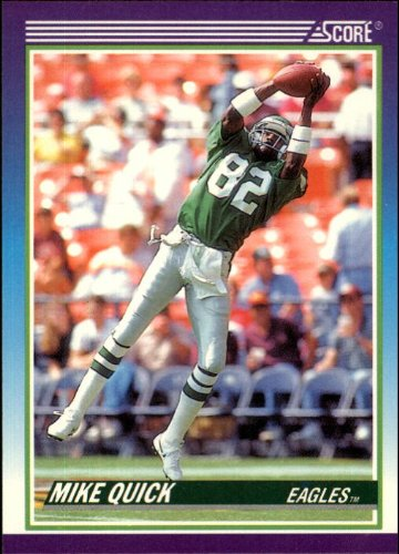 - 1990 Score Football Card #466 Mike Quick