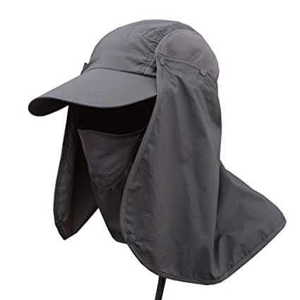 a50808b215347 YiSeyruo Outdoor Sun Protection Fishing Hat Men Women Farmer Gardener Hat-Removable  Mesh Neck