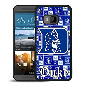 NCAA Atlantic Coast Conference ACC Footballl Duke Blue Devils 6 Black Abstract Personalized Picture HTC ONE M9 Case