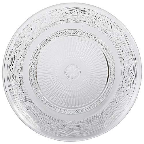 Somil Self Designer Transparent Round Glass Plate Set of one
