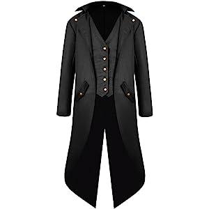 Amazon.com: H&ZY Men Steampunk Vintage Jacket Halloween ...