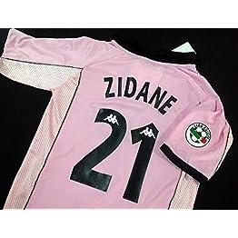Zidane#21 Juventus Pink Retro Soccer Jersey 1997-1998 Full UCL.Patch